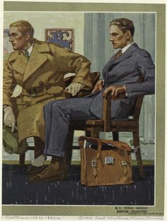 sexcapote:  1921. Hart Shaffner Marx fashion magazine illustration by John E. Sheridan.