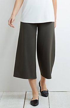 Wearever Smooth-Fit wide-leg cropped pants