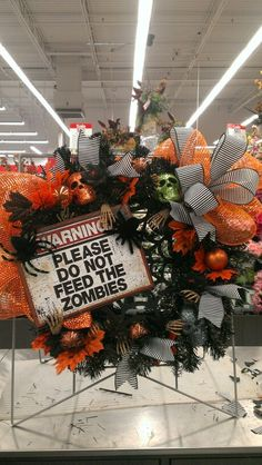 Zombie wreath in Orange...Robin Evans