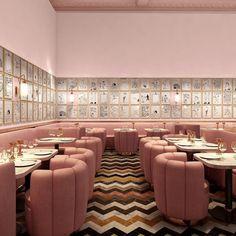 uraganostudio:  DAILY FOCUS /  Gallery Restaurant at Sketch, London by India Mahdavi for David Shrigley.
