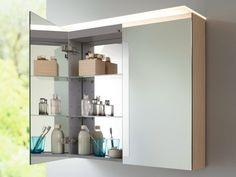 armoire de rangement salle de bain avec miroir design par Duravit, X large