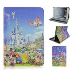 disney cartoon character stand pu leather cover cases for #ipad mini 1/2/3 from $5.99