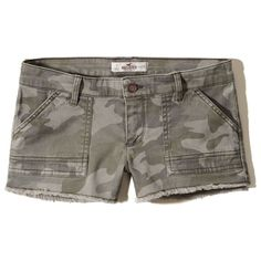 Girls Vintage Twill Camo Short-Short ($15) ❤ liked on Polyvore featuring shorts