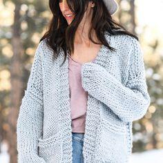 Crochet Poncho Patterns, Crochet Cardigan Pattern, Easy Knitting Patterns, Free Knitting, Single Crochet Stitch, Kimono Cardigan, Cardigan Fashion, Top Pattern, Free Pattern