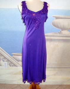 Royal Purple Dress with Lace & Bit of Bling Size S...$10 at BestDressedPoorGirl