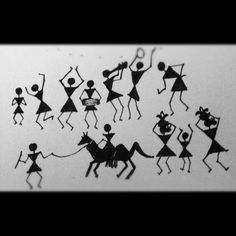 A Warli wedding procession....