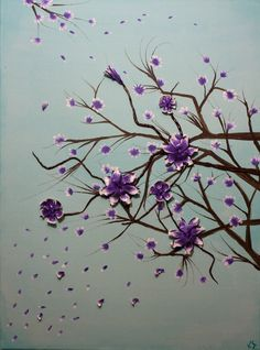 Handmade Acrylic Flowers Painting with 3D polymer by SuddenGoods