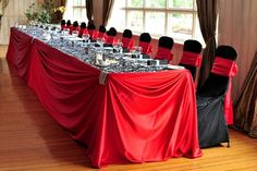 Red and black Head table... For Karla
