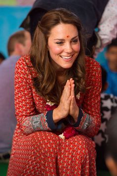 Catherine, Duchess of Cambridge visits a contact centre run by the charity Salaam Baalak, which provides emergency help and long term support to homeless children at New Delhi railway station on April 12, 2016
