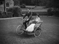 Vintage Bicycle Sidecar in action