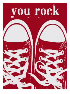 07f03816bc You Rock Red Sneakers Giclee Print by Lisa Weedn at AllPosters.com