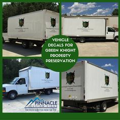 #Boxtruck #makeover for Green Knight Property Preservation! Have a surface? We can cover it #vehiclegraphics #signs
