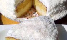 Φανταστική τούρτα χιονούλα - μπαίνεις στον πειρασμό να την φτιάξεις άμεσα! Camembert Cheese, Deserts, Dairy, Cake, Recipes, Food, Kuchen, Recipies, Essen