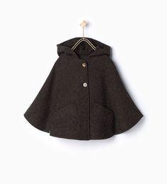 Herringbone cape-View all-Coats-Girl-Kids   4-14 years-KIDS   ZARA United States