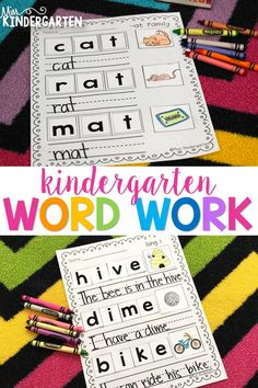 These word builders are a fun way for your students to practice building, reading and writing CVC and CVCe words, as well as words with blends and digraphs. Students will enjoy building these words, writing them and matching the corresponding picture independently and in small groups! #spelling #learning