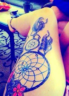 Watercolor tattoo on leg #leg #tattoo #girls