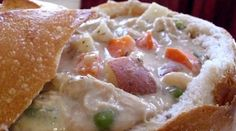 Creamy Navy Bean Soup with Chicken & Veggies