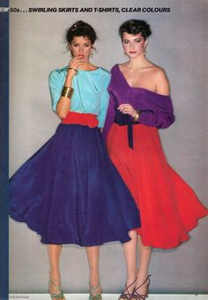 1979 Vogue Editorial - Colour Blocking ( A young Janice Dickinson ??)