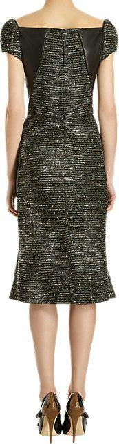 J. Mendel Tweed Flared Skirt Dress - Mid - Barneys.com