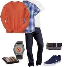 #Men - A flawless casual outfit for today's T.O weather. A touch of color is always needed.