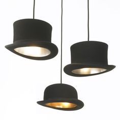 "Luminaire suspension chapeau ""Jeeves"" (chapeau melon) - Jake Phipps"