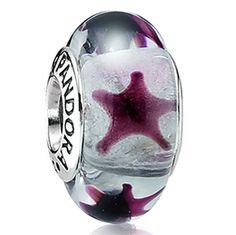 Pandora Murano Gladd Maroon Stars - Cool!  Looks like starfish.  :)
