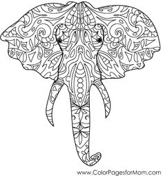 elephant coloring page #coloringpages #adultcolorpages #adultcoloringpage #elephant