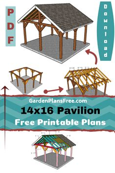 If you want to learn more about outdoor pavilion plans you have to take a close look over the free plans in the article. This large pavilion has a gable roof with a 30 degree slope, so you can build it even in areas with significant precipitations.