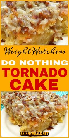 On the weight watchers diet and in the mood for something sweet? Here are 30 delicious weight watchers desserts recipes with SmartPoints for you to try! Do Nothing Tornado Cake! Weight Watchers Desserts, Weight Watchers Cake, Weight Watchers Program, Plats Weight Watchers, Ww Desserts, Healthy Desserts, Delicious Desserts, Dessert Recipes, Healthy Recipes
