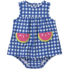 Child of Mine by Carters Newborn Girl Printed Sunsuit, They also have one with strawberries all over it!