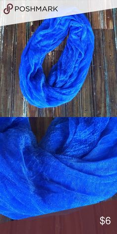 Boutique Lightweight Cobalt Blue Scarf 100% polyester. Lightweight and beautiful color! Accessories Scarves & Wraps