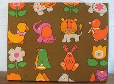 1960s children's fabric