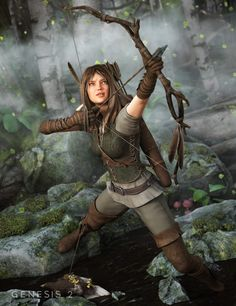 Malia- When I was captured by elves O was given this outfit to wear. I had my own bow and quiver with arrows on me.