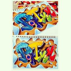 "24 次赞、 3 条评论 - Poh Imm (@poh_imm) 在 Instagram 发布:""#my_works #graffiti #my_name #Poh_Imm #colorful #colour_pencils #marker#sketch_book###"""