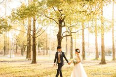【大阪】鶴見緑地公園で結婚式の和装・洋装前撮り | 撮影:寺川昌宏