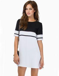 Vestido manga corta-blanco y negro 16.99