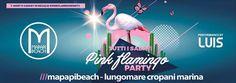 Pink Flamingo PartyIn Regalo Tshirt - Zainetti pink Flamingo  Foto Booth Contest:  La Foto con Più Like Pubblicata sulla Pagina del Mapapi Beach Riceverà in premio un Flamingo Gigante Gonfiabile    Mapapi Beach /// LungoMare Cropani Marina
