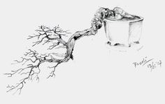 Bonsai Illustrations of Rudi Julianto