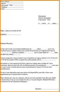 Lettre De Preavis Appartement Meuble 1 Modele Conge Location | Appartement meublé, Appartement ...