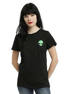 Alien Girls T-Shirt, BLACK