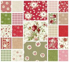 With All My Heart 23 Fat Quarter Set - Gerri Robinson - Red Rooster