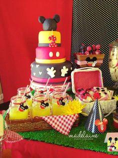 Mickey's Magic Land Mickey Mouse Party Full of Cute Ideas via Kara's Party Ideas   KarasPartyIdeas.com #MickeyMouse #PartyIdeas #mickeymousepartysupplies #supplies #mickeymouseparty #cake