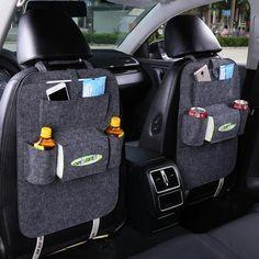 Car Back Seat Storage Bag Car Seat Cover Organizer Trash Net Holder Multi-Pocket Holder for Organizer Auto Storage Pouch Car Storage Box, Seat Storage, Food Storage, Hanging Storage, Ford Focus, Auto Styling, Car Seat Organizer, Leather Car Seats, Bag Hanger