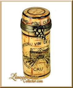 French Wine Cork Limoges Box by Beauchamp