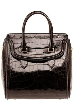 50eb94b9627 Alexander McQueen Heroine bag in Black high-shine leather