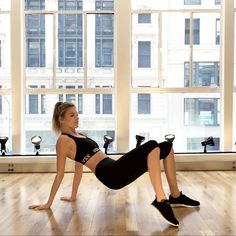The Ultimate Crop Top Workout With Victoria's Secret Angel Martha Hunt // WARNING: These moves are weird. But maybe worth a try?