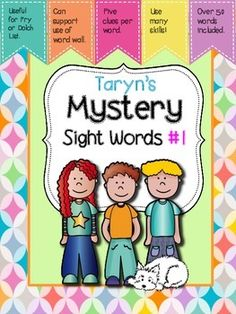 What a fun way to practice looking closely at sight words.  This packet includes fifty sight word clue sets.  Each set has a variety of clues to read aloud to your students. Based on the information you reveal to your students one at a time, your students can look at the word wall and figure out which sight word you have in mind.
