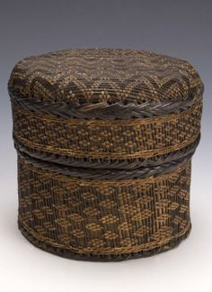 Africa | Basket from the Kongo Kingdom; lower Congo/Angola | 19th century | Raffia