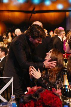 Christian Bale and wife, Sibi at Critics Choice Awards in Santa Monica 1.17.16