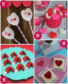 28 Days of Kid's Valentine's Day Food Crafts on Frugal Coupon Living. Take a look at these Valentine Peeps Pops, Valentine's Day Patties,  Fruit Roll Ups Fortune Cookies and JELL-O Heart Squares